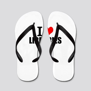 I Love Libraries Flip Flops