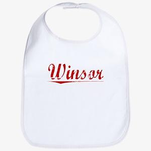 Winsor, Vintage Red Baby Bib