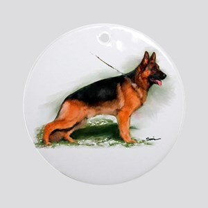 German Shepherd Obedience Sta Ornament (Round)