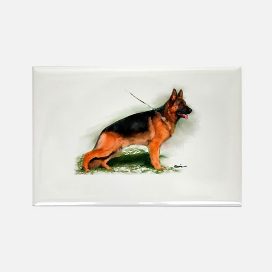 German Shepherd Obedience Sta Rectangle Magnet