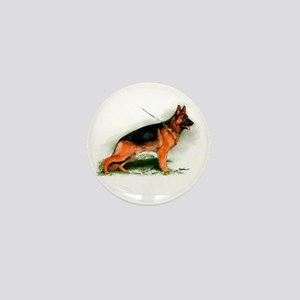 German Shepherd Obedience Sta Mini Button