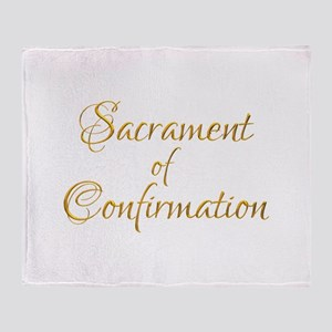 Sacrament of Confirmation Throw Blanket