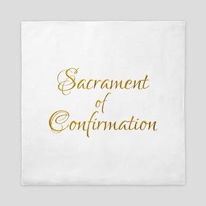Sacrament Of Confirmation Queen Duvet