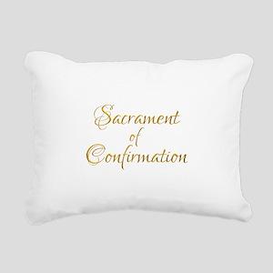 Sacrament of Confirmatio Rectangular Canvas Pillow