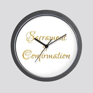 Sacrament Of Confirmation Wall Clock