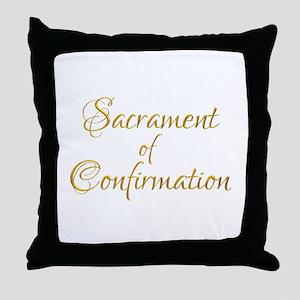 Sacrament of Confirmation Throw Pillow