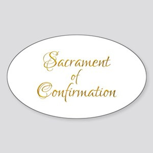 Sacrament of Confirmation Sticker (Oval)