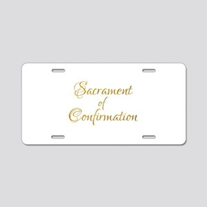 Sacrament of Confirmation Aluminum License Plate