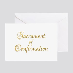 Sacrament Of Confirmatio Greeting Cards (pk Of 20)