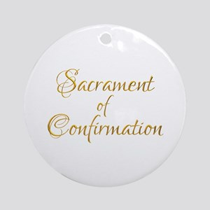 Sacrament Of Confirmation Round Ornament