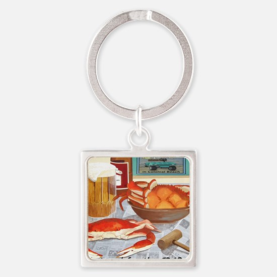 Unique Virginia beach Square Keychain