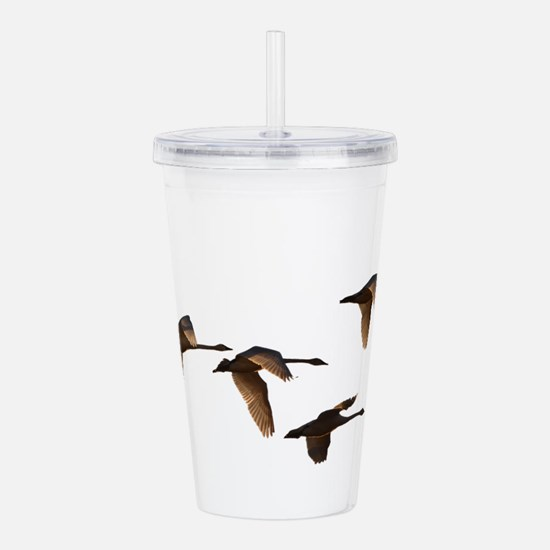 Swans Migrating Acrylic Double-wall Tumbler