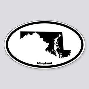 Maryland State Outline Oval Sticker