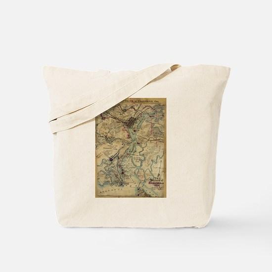 Vintage Savannah Georgia Civil War Map (1 Tote Bag