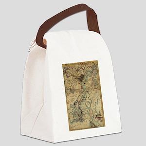 Vintage Savannah Georgia Civil Wa Canvas Lunch Bag