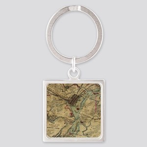 Vintage Savannah Georgia Civil War Map ( Keychains