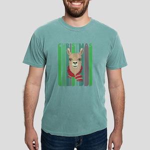 Vintage Retro Funny Christmas Llama Hipste T-Shirt
