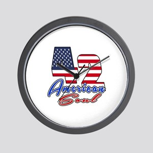 42 American Soul Birthday Designs Wall Clock