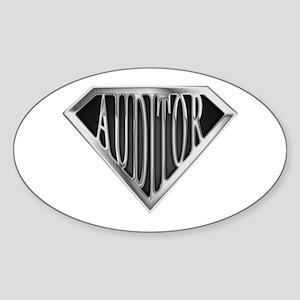 SuperAuditor(metal) Oval Sticker