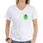 Shrapnel Women's V-Neck T-Shirt