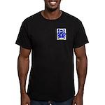 Shortman Men's Fitted T-Shirt (dark)