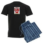Shorten Men's Dark Pajamas