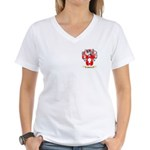 Shorten Women's V-Neck T-Shirt