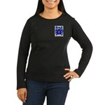 Short Women's Long Sleeve Dark T-Shirt