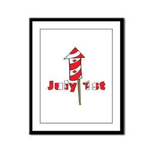 Canada Day Fire Works Framed Panel Print