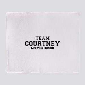 Team COURTNEY, life time member Throw Blanket