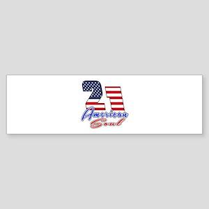 21 American Soul Birthday Designs Sticker (Bumper)