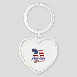 21 American Soul Birthday Designs Heart Keychain