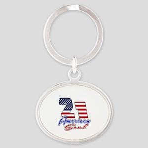 21 American Soul Birthday Designs Oval Keychain
