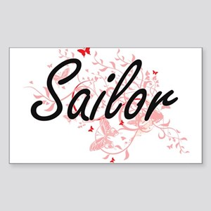 Sailor Artistic Job Design with Butterflie Sticker