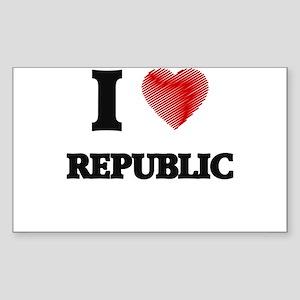 I Love Republic Sticker