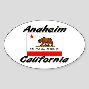 Anaheim California Oval Sticker