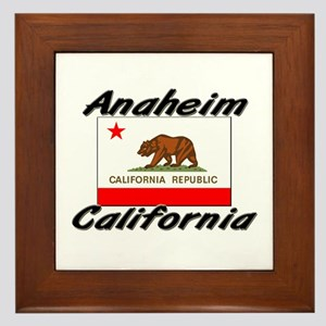 Anaheim California Framed Tile