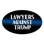 Lawyers Against Trump Oval Sticker