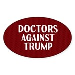 Doctors Against Trump Oval Sticker