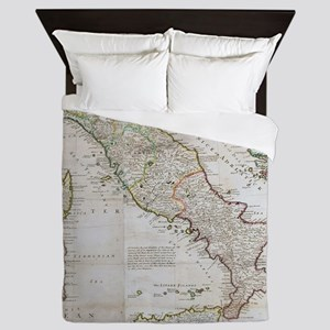 Vintage Map of Italy (1714) Queen Duvet