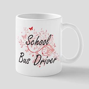 School Bus Driver Artistic Job Design with Bu Mugs