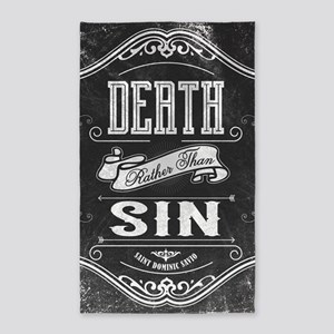 Death Rather Than Sin Area Rug