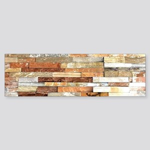 orange stone brick mosaic Bumper Sticker