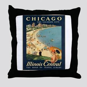 Vintage poster - Chicago Throw Pillow