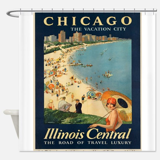 Vintage poster - Chicago Shower Curtain