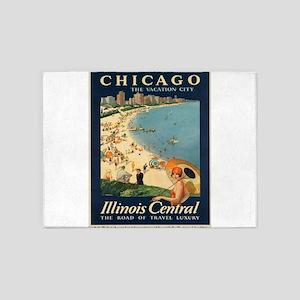 Vintage poster - Chicago 5'x7'Area Rug