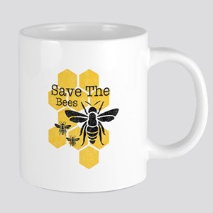 Honeycomb Save The Bees Mugs