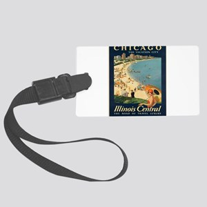 Vintage poster - Chicago Large Luggage Tag
