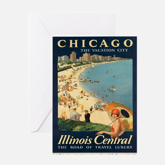 Vintage poster - Chicago Greeting Cards