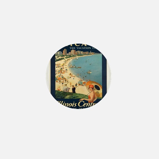 Vintage poster - Chicago Mini Button